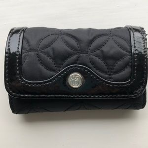 Vera Bradley small wallet with key ring, black